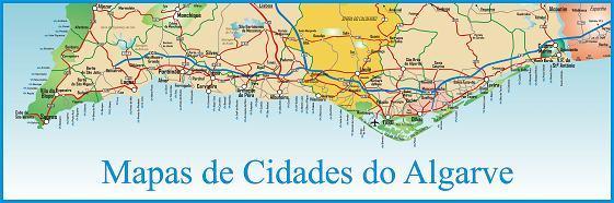 mapa das cidades do algarve Mapa Cidades de Algarve mapa das cidades do algarve
